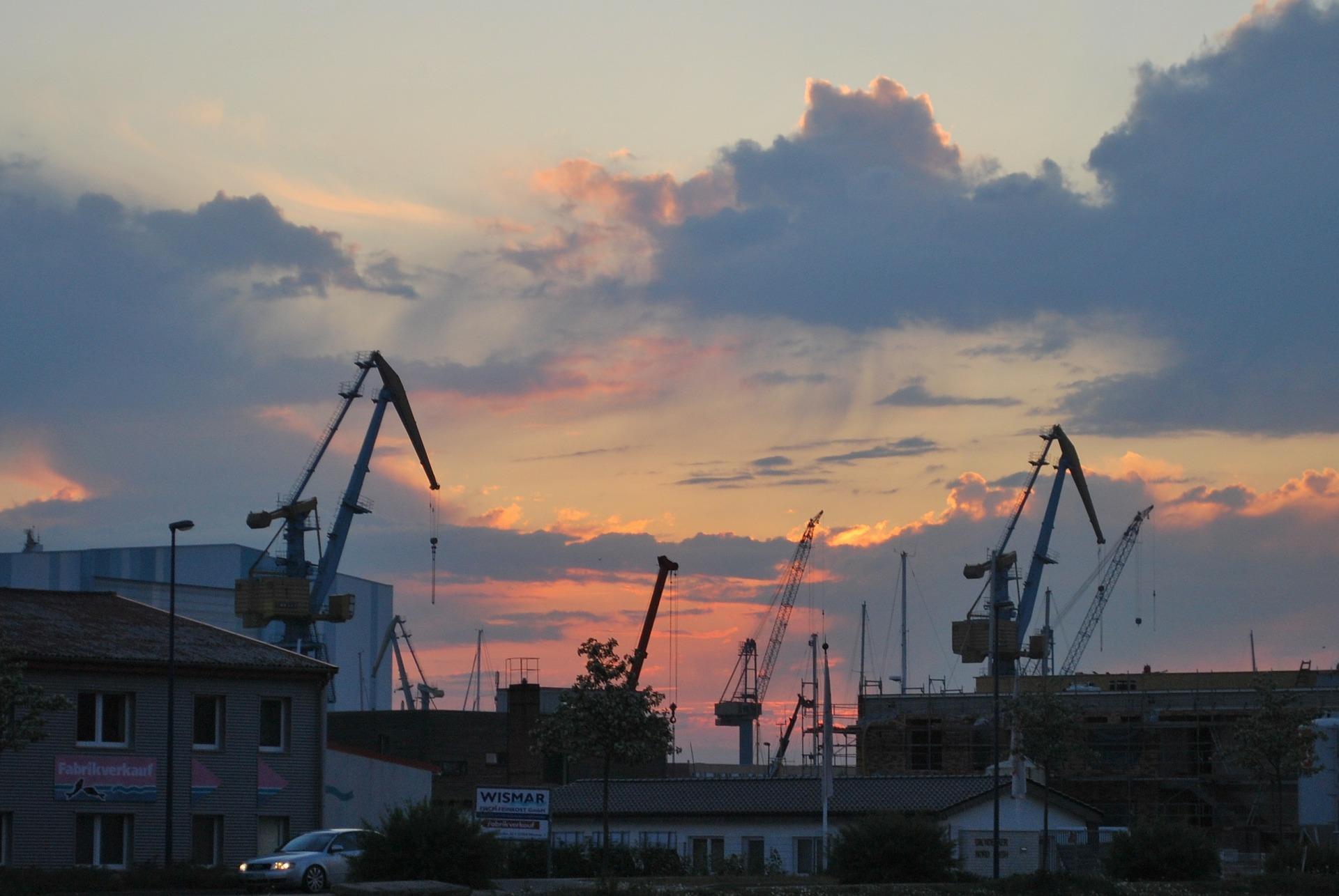 plac budowy - chmury